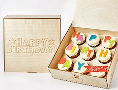 "Капкейки ""Happy Birthday"" - Wood Box"