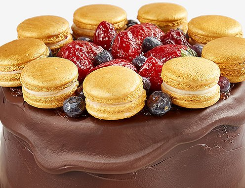 "Торт ""Macaroons & Berries"" - Gold Bar Style - 1,7 kg"